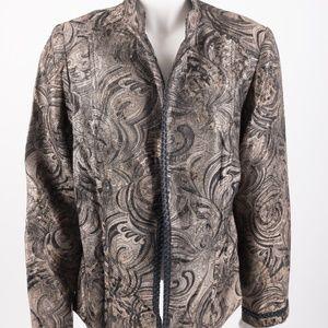 Chico's Women's Blazer Jacket Tapestry Designed